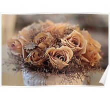 Dried Roses Flower Arrangement  Poster