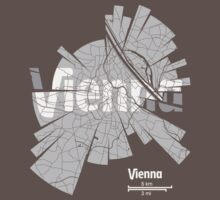 Vienna Map by UrbanizedShirts