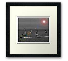Sailing in Bras D'Or Lake, Nova Scotia - www.jbjon.com Framed Print