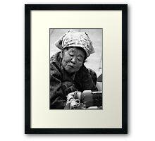 The Market Lady Framed Print