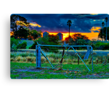 """At The Farm Gate"" Canvas Print"