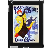 'Palais De Glace' by Jules Cheret (Reproduction) iPad Case/Skin