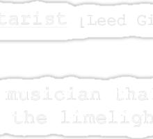 Lead Guitarist Sticker