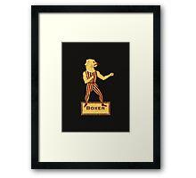 Boxer Dog Bonzo Bones Framed Print