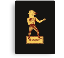 Boxer Dog Bonzo Bones Canvas Print