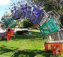 Shopping Cart Rainbow by Walker Everette