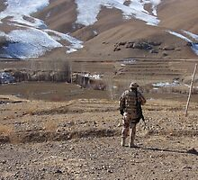 Peace Patrol at TASRAQAY village (Afghanistan) by Antanas