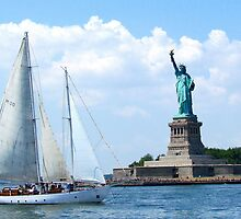 Summer in the City, New York Harbour by Alberto  DeJesus