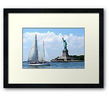 Summer in the City, New York Harbour Framed Print