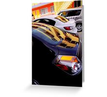 Yellow Pickets Going Up Greeting Card