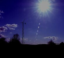 wind generator - silhouette by SNAPPYDAVE