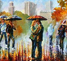 Kiss In New York — Buy Now Link - www.etsy.com/listing/156913703 by Leonid  Afremov