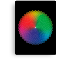 Spirograph - Color Spectrum Multiply Canvas Print