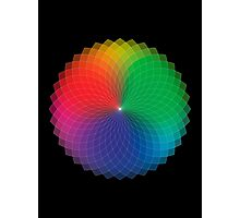 Spirograph - Color Spectrum Multiply Photographic Print