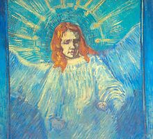 'Half Figure of an Angel' by Vincent Van Gogh (Reproduction) by Roz Abellera Art