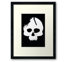 Skull Stencil Framed Print