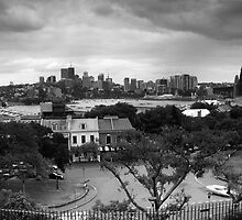 Observatory Park View Of North Sydney BW by MiImages