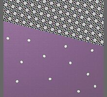 MODERN purple and grey, abstract decor by ackelly4