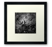 When The Stars Are Right - The Eagle Nebula in Serpens (black & white version) Framed Print