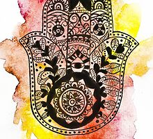 HAMSA Watercolour Phone Case by emmadeal