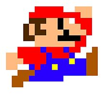 Super Mario - Pixel - Retro Games by PixelProducts