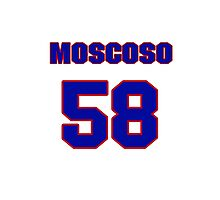 National baseball player Guillermo Moscoso jersey 58 Photographic Print