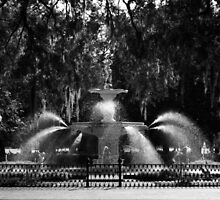 Savannah Fountain #2, Georgia by Benjamin Padgett
