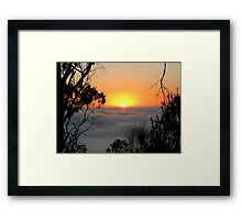 Sunrise from Mount Barker Summit Framed Print