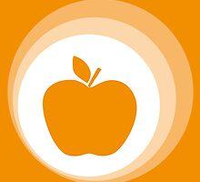 orange apple  by Micheline Kanzy