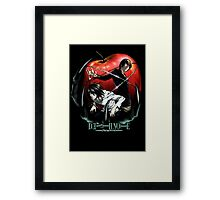 death note Framed Print