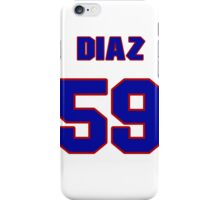 National baseball player Carlos Diaz jersey 59 iPhone Case/Skin