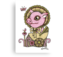 A Rather Handsome Pig Canvas Print