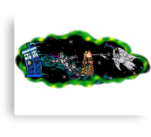 Tardis in Tow Canvas Print