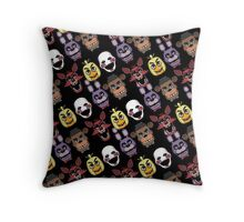 Five Nights At Freddy's Pizzeria Multi-Character All Over Print Patten Throw Pillow