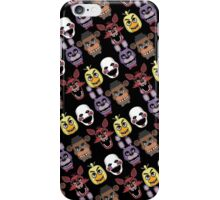 Five Nights At Freddy's Pizzeria Multi-Character All Over Print Patten iPhone Case/Skin