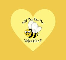 Will You bee My Valentine? Yellow Heart by Eggtooth