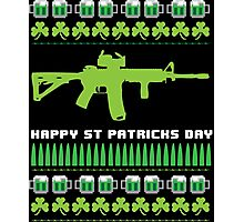 Funny AR-15 Ugly St. Patrick's Day Sweater T-Shirt and Gifts Photographic Print