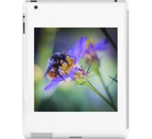 Bumblebee on Neon Flower iPad Case/Skin