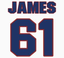National baseball player Justin James jersey 61 by imsport