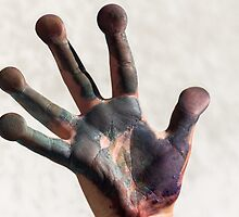 painted  hand by Robert Boss
