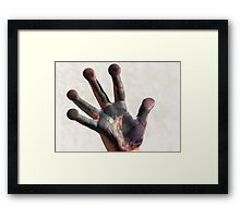 painted  hand Framed Print
