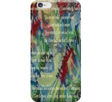 And Now I'll Look Away - Greeting Card iPhone Case/Skin