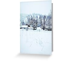 White Snow Greeting Card