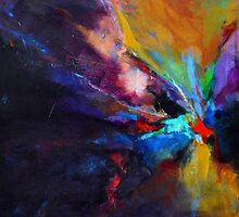 Flow,  from original Mixed Media Abstract Painting by MadeleineKelly