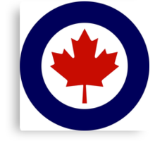 Roundel of the Royal Canadian Air Force Canvas Print
