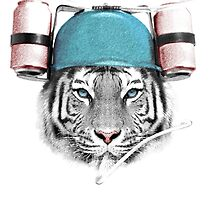 Cool White Tiger by Julien Missaire