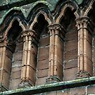 Detail top front Lanercost Priory Cumbria England 198405260011 by Fred Mitchell
