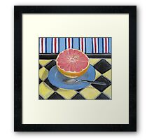 Pink Grapefruit Framed Print