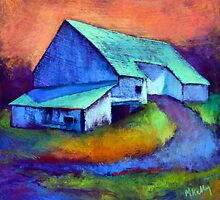 Gauguin's Barn Revisited ( from original pastel )  by MadeleineKelly