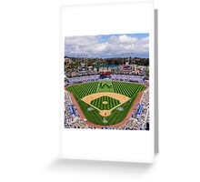 Dodger Baseball Greeting Card